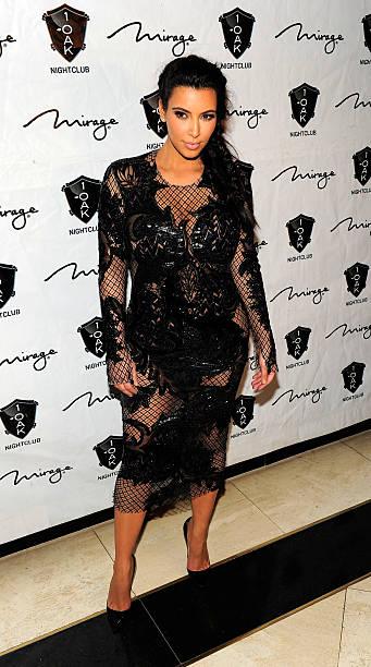 Kim Kardashian Hosts The New Years Eve Countdown At 1 Oak