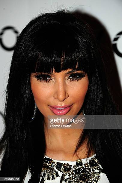 Television personality Kim Kardashian arrives to host a New Year's Eve party at the Tao Nightclub at the Venetian on December 31 2011 in Las Vegas...