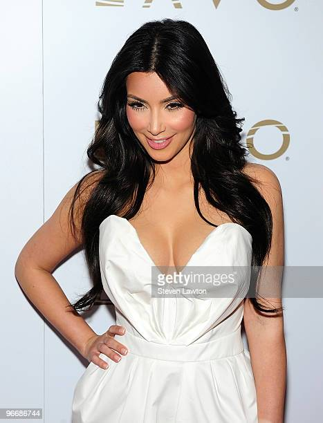 Television personality Kim Kardashian arrives to host 'Queen Of Hearts' ball at Lavo Restaurant Nightclub at The Palazzo on February 13 2010 in Las...