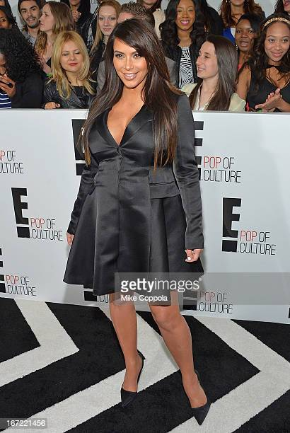 Television personality Kim Kardashian attends the E 2013 Upfront at The Grand Ballroom at Manhattan Center on April 22 2013 in New York City