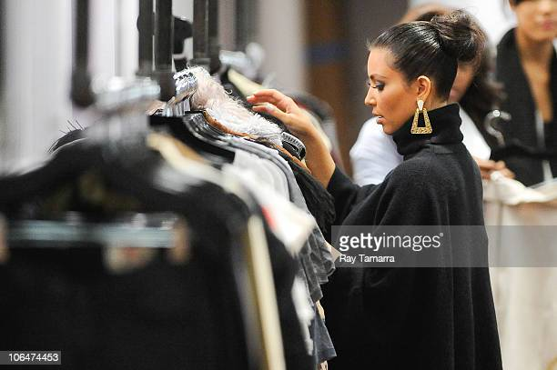 Television personality Kim Kardashian prepares for the store opening at Dash Store Soho on November 2 2010 in New York City