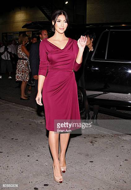 Television personality Kim Kardashian seen on the streets of Manhattan on August 25, 2008 in New York City.