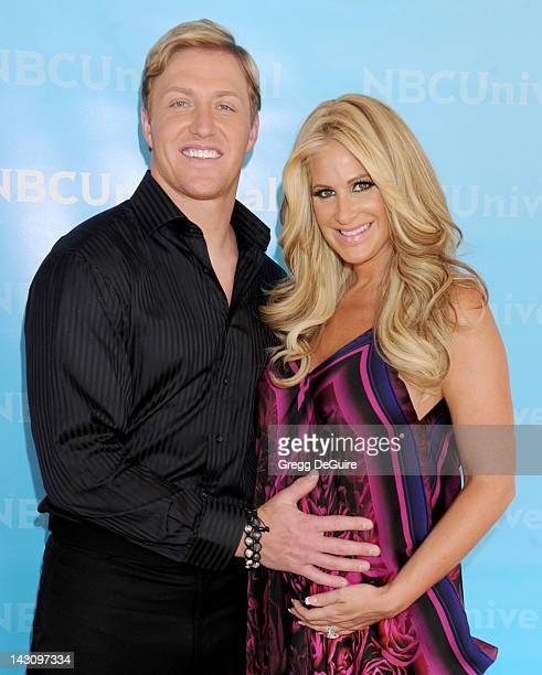Television personality Kim Zolciak and Kroy Biermann arrive at the 2012 NBC Universal Summer Press Day at The Langham Huntington Hotel and Spa on...