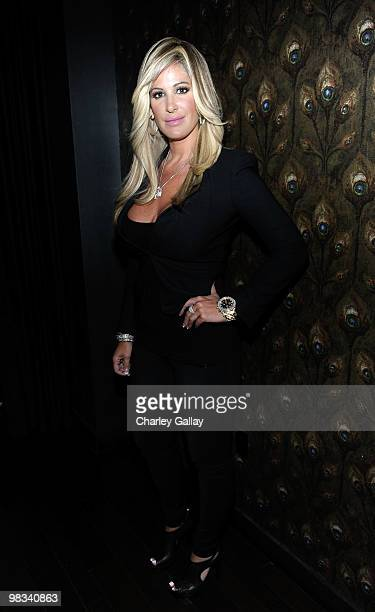 Television personality Kim Zolciak attends the afterparty following the premiere of Roadside Attractions Echo Lake Entertainment's 'The Joneses' held...