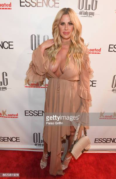 Television personality Kim Zolciak Biermann at Essence Magazine Celebrates October Cover Star Kandi Burruss at Revel on September 22 2017 in Atlanta...