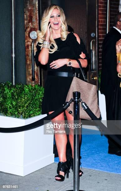 Television personality Kim Zolciak enters Skylight Studio on March 10 2010 in New York City