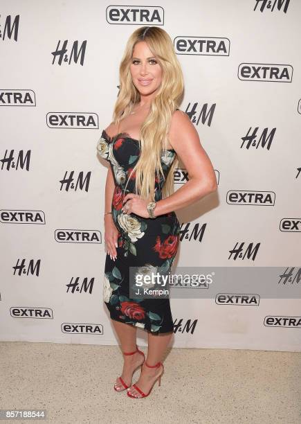 Television personality Kim Zolciak visits Extra at HM Times Square on October 3 2017 in New York City