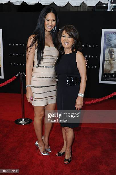 Television Personality Kimora Lee and her mother Joanne Kyoko Perkins arrive at the premiere of Touchstone Pictures and Miramax Films' 'The Tempest'...