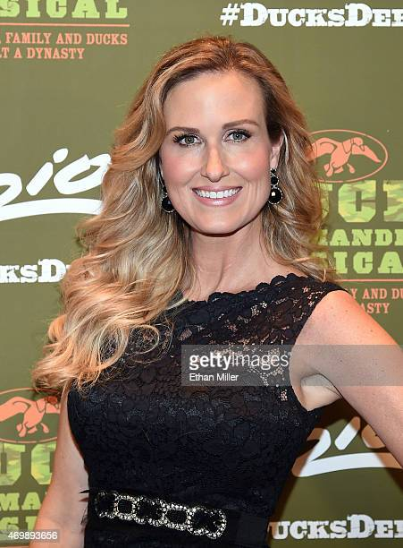 Television personality Korie Robertson attends the Duck Commander Musical premiere at the Crown Theater at the Rio Hotel Casino on April 15 2015 in...