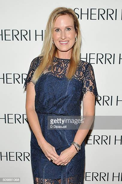Television personality Korie Robertson attends the Sherri Hill Fall 2016 fashion show during New York Fashion Week The Shows on February 12 2016 in...