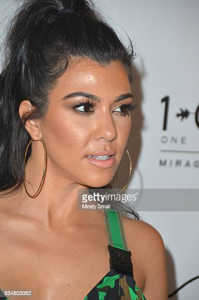 Television personality Kourtney Kardashian arrives at 1 OAK Nightclub at The Mirage Hotel Casino on May 28 2016 in Las Vegas Nevada