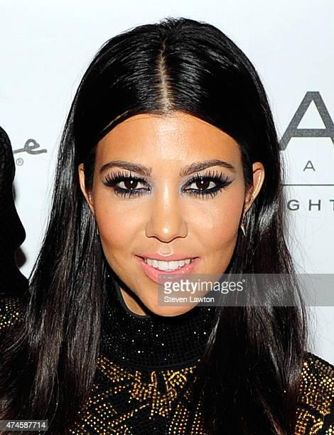 Television personality Kourtney Kardashian attends Scott's birthday celebration at 1 OAK Nightclub at The Mirage Hotel Casino on May 23 2015 in Las...