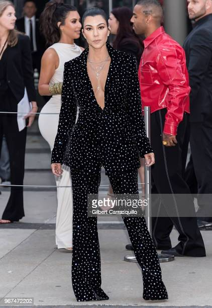 Television personality Kourtney Kardashian is seen arriving to the 2018 CFDA Fashion Awards at Brooklyn Museum on June 4 2018 in New York City