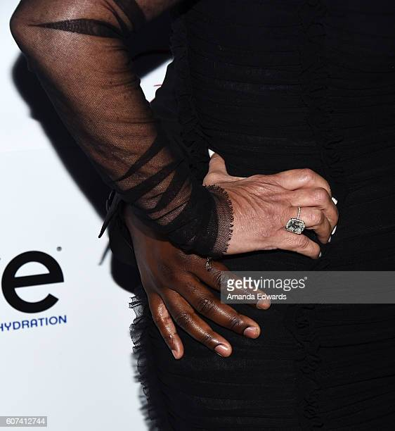 Television personality Kris Jenner and Corey Gamble hand detail arrive at the Annual Brent Shapiro Foundation for Alcohol and Drug Prevention Summer...