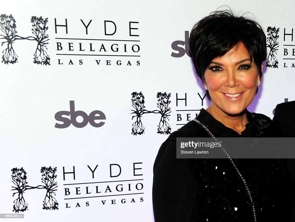 Television personality Kris Jenner arrives at Scott Disick's 30th birthday bash at Hyde Bellagio at the Bellagio on May 26, 2013 in Las Vegas, Nevada.