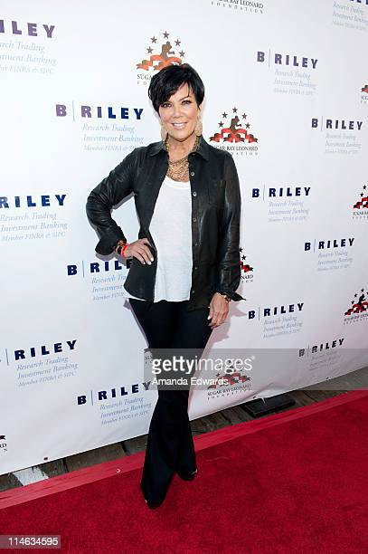 Television personality Kris Jenner arrives at Sugar Ray Leonard's 2nd Annual Big Fighters Big Cause Charity Boxing Night at the Santa Monica Pier on...