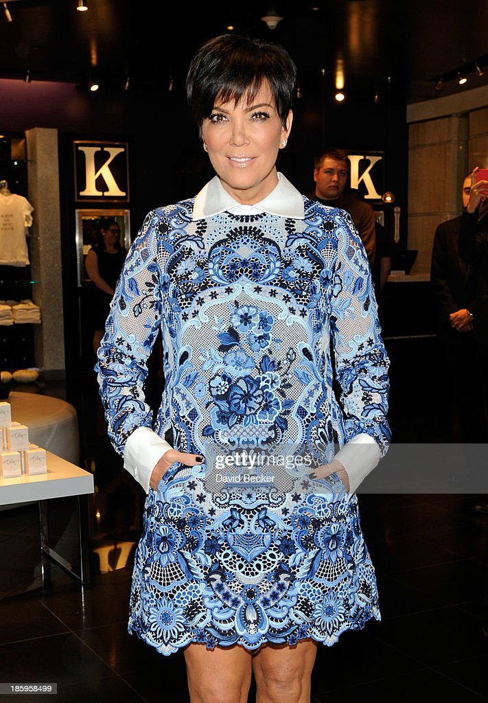 Television personality Kris Jenner arrives at the Kardashian Khaos store at The Mirage Hotel & Casino for a fan meet-and-greet on October 26, 2013 in Las Vegas, Nevada.
