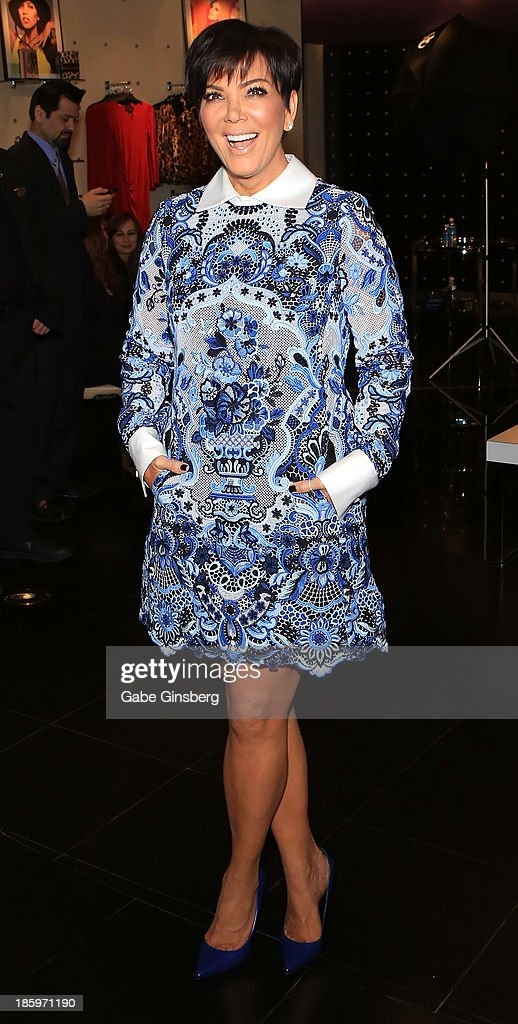 Television personality Kris Jenner arrives at the Kardashian Khaos store at The Mirage Hotel & Casino at on October 26, 2013 in Las Vegas, Nevada.
