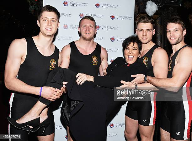 Television personality Kris Jenner attends her daughter Kim Kardashian's toast for the Elizabeth Taylor Foundation/World AIDS Day at The Abbey on...