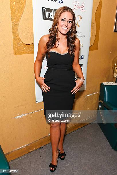 Television personality Krisily Kennedy arrives at Maria Kanellis' signature perfume line launch party at Beauty Bar on April 13 2011 in Hollywood...