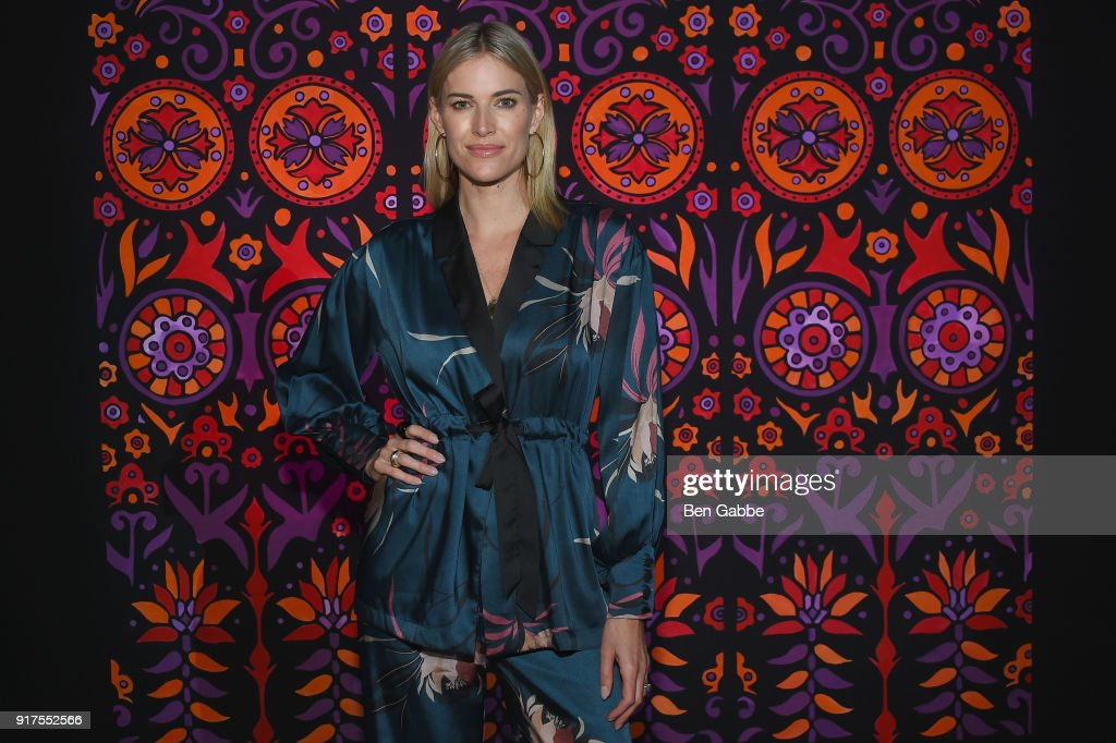 Television personality Kristen Taekman attends the Anna Sui fashion show during New York Fashion Week: The Shows at Gallery I at Spring Studios on February 12, 2018 in New York City.
