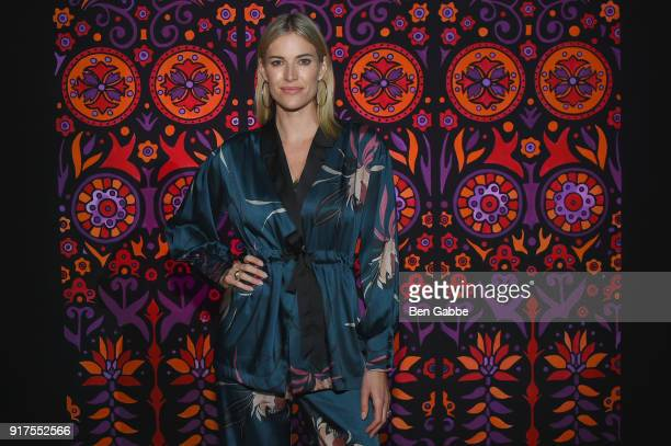 Television personality Kristen Taekman attends the Anna Sui fashion show during New York Fashion Week The Shows at Gallery I at Spring Studios on...