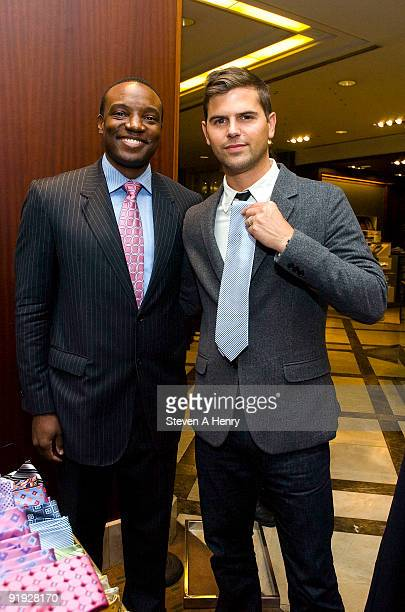 Television personality Kwame Jackson and GQ style correspondent Brett Fahlgren attend Macy's & GQ Magazine's Men's Night at Macy's Herald Square on...