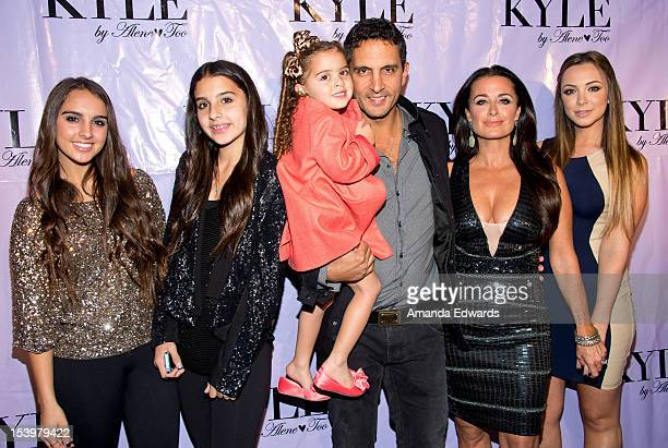 Television personality Kyle Richards and her family arrive at the Kyle By Alene Too Beverly Hills Boutique PreOpening Party at Kyle by Alene Too on...