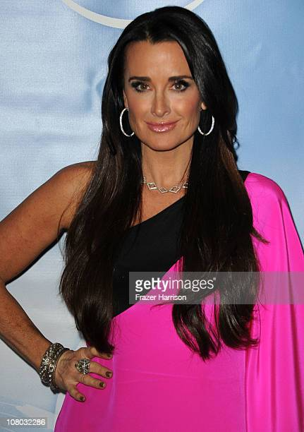 Television Personality Kyle Richards arrives at the NBC Universal 2011 Winter TCA Press Tour AllStar Party at the Langham Huntington Hotel on January...