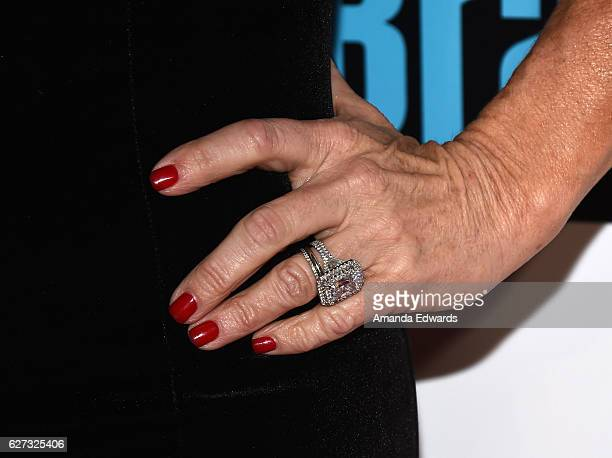 Television Personality Kyle Richards Ring Detail Arrives At The Premiere Party For Bravo Networks