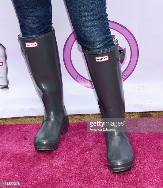 Television personality Kyle Richards shoe detail attends the StopYulinForever March to End Dog Cruelty in Yulin China at MaCarthur Park Recreation...