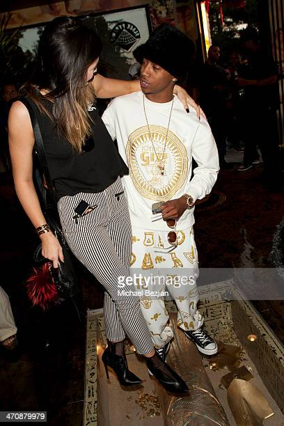 Television personality Kylie Jenner and recording artist Lil Twist attend the Exclusive Press Preview Of Tyga's Last Kings Flagship Store On Melrose...