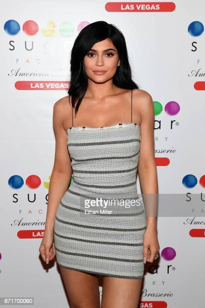 Television personality Kylie Jenner arrives at Sugar Factory American Brasserie at the Fashion Show mall on April 22 2017 in Las Vegas Nevada