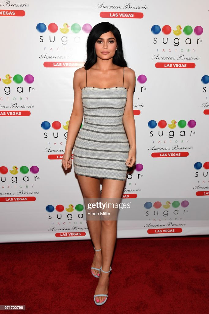 Television personality Kylie Jenner arrives at Sugar Factory American Brasserie at the Fashion Show mall on April 22, 2017 in Las Vegas, Nevada.