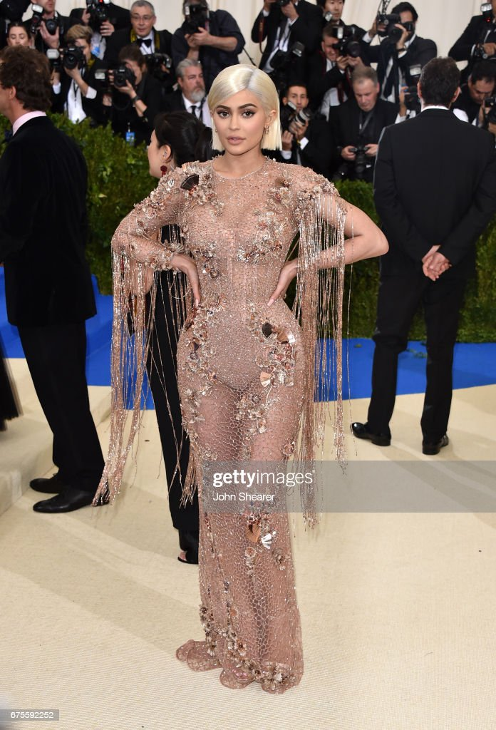Television personality Kylie Jenner attends 'Rei Kawakubo/Comme des Garcons: Art Of The In-Between' Costume Institute Gala at Metropolitan Museum of Art on May 1, 2017 in New York City.
