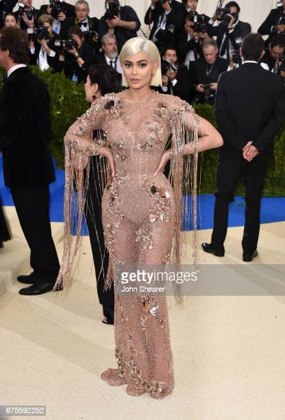 Television personality Kylie Jenner attends Rei Kawakubo/Comme des Garcons Art Of The InBetween Costume Institute Gala at Metropolitan Museum of Art...