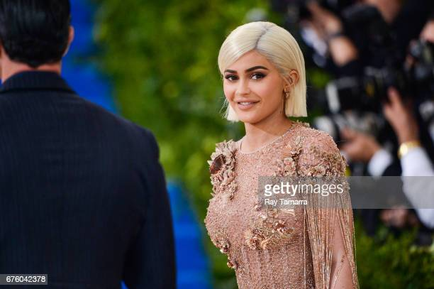 Television personality Kylie Jenner enters the Rei Kawakubo/Comme des Garcons Art Of The InBetween' Costume Institute Gala at the Metropolitan Museum...