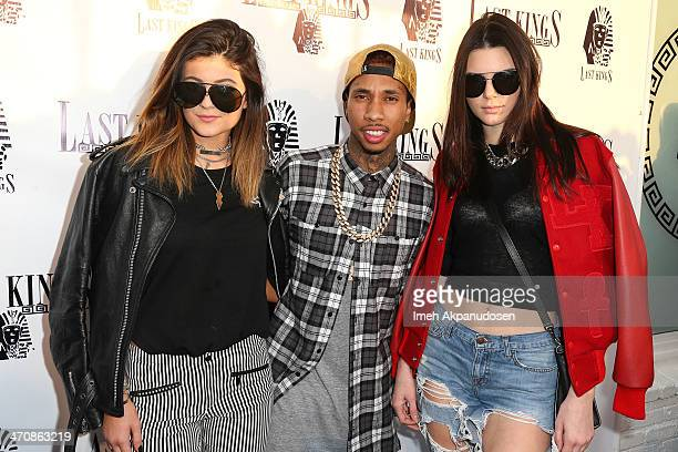 Television personality Kylie Jenner rapper Tyga and television personality Kendall Jenner attend the exclusive press preview of Tyga's new store Last...