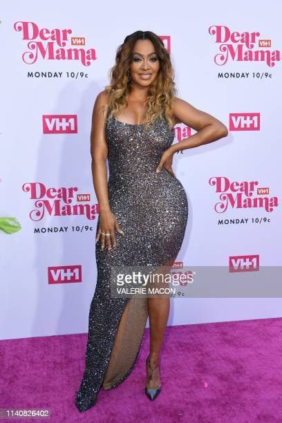 US television personality La La Anthony arrives for VH1's Annual Mother's Day Celebration Dear Mama A Love Letter to Mom at The Theatre at Ace hotel...