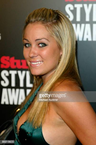 Television personality Lauren Conrad arrives at the Stuff Magazine Style Awards at the Roosevelt Hotel on September 7 2005 in Los Angeles California