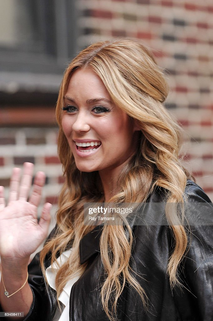 Television personality Lauren Conrad visits the 'Late Show with David Letterman' at the Ed Sullivan Theater on October 27, 2008 in New York City.
