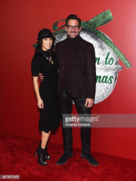 Television personality Lawrence Zarian and actress Jennifer Dorogi arrive at a screening of Hallmark Channel's A Nutcracker Christmas at The Grove on...