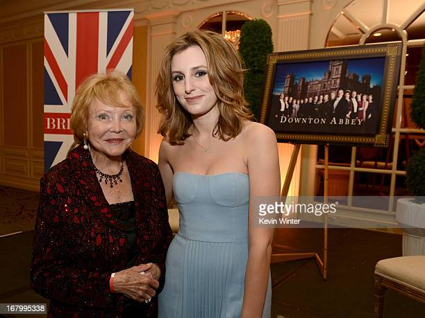 Television personality Lee Phillip Bell and actress Laura Carmichael attend BritWeek Celebrates Downton Abbey at The Fairmont Miramar Hotel on May 3...