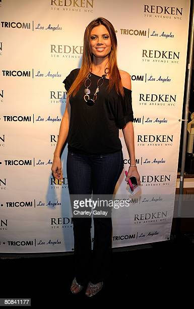 Television personality Lianna Grethel attends the Redkens Real Control cocktail party at Warren Tricomi LA on April 23 2008 in West Hollywood...