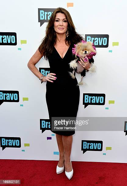 Television Personality Lisa Vanderpump and Giggy arrives at Bravo Media's 2013 For Your Consideration Emmy Event at Leonard H Goldenson Theatre on...