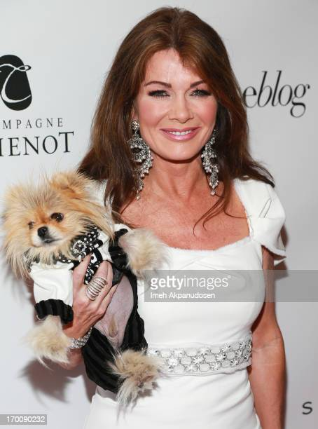 Television personality Lisa Vanderpump and her dog Giggy The Pom attend the Beverly Hills Lifestyle 5 Year Celebration at Sofitel Hotel on June 6...