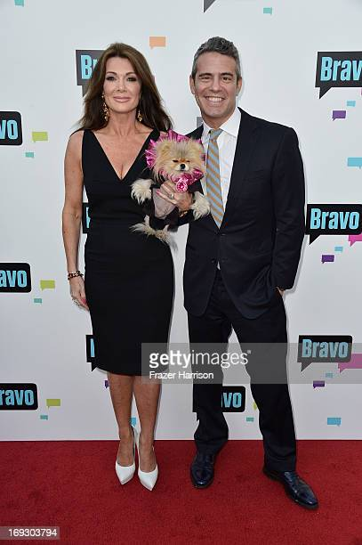 Television Personality Lisa Vanderpump and TV host Andy Cohen arrive at Bravo Media's 2013 For Your Consideration Emmy Event at Leonard H Goldenson...