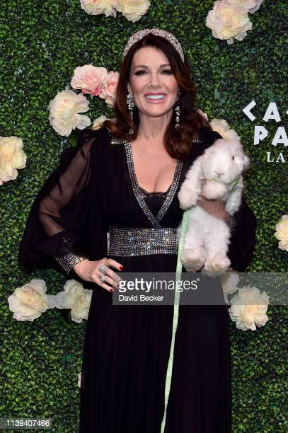 Television personality Lisa Vanderpump attends the grand opening of Vanderpump Cocktail Garden at Caesars Palace on March 30 2019 in Las Vegas Nevada