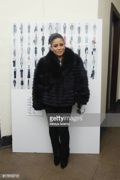 Television personality LisaNicole Cloud attends the Dennis Basso fashion show at St Bartholomew's Church on February 12 2018 in New York City