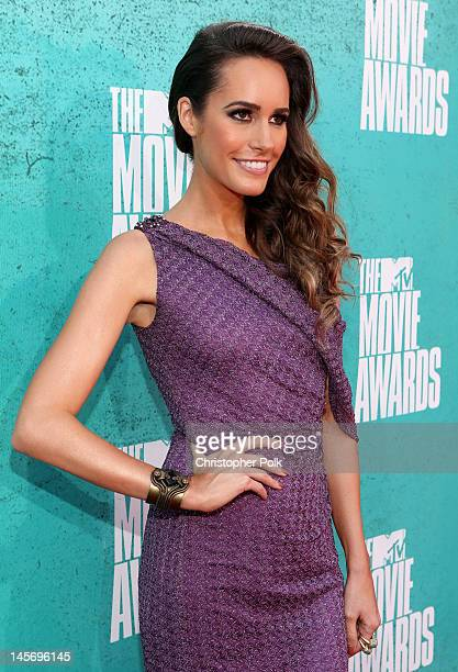 Television personality Louise Roe arrives at the 2012 MTV Movie Awards held at Gibson Amphitheatre on June 3 2012 in Universal City California